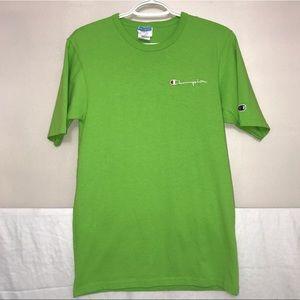 Champion Vivid Kelly Green Crewneck Logo T-Shirt